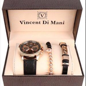 Men's Watch & Bracelet Gift Set